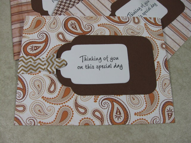 any occasion tag card set in natural brown tones