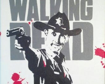 Rick Grimes The Walking Dead pop art painting