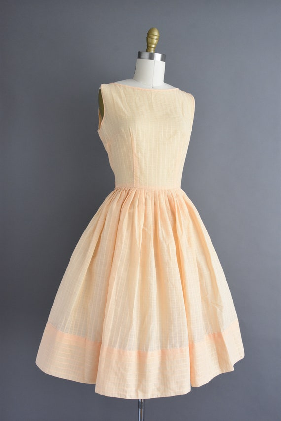 vintage 1950s | Jerry Gilden Peach Cotton Full Sk… - image 6