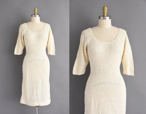 Gene Shelly vintage 1950s dress | Medium - Large |