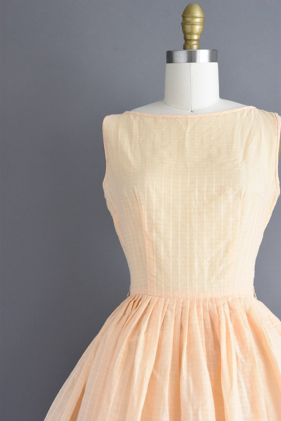vintage 1950s | Jerry Gilden Peach Cotton Full Sk… - image 3