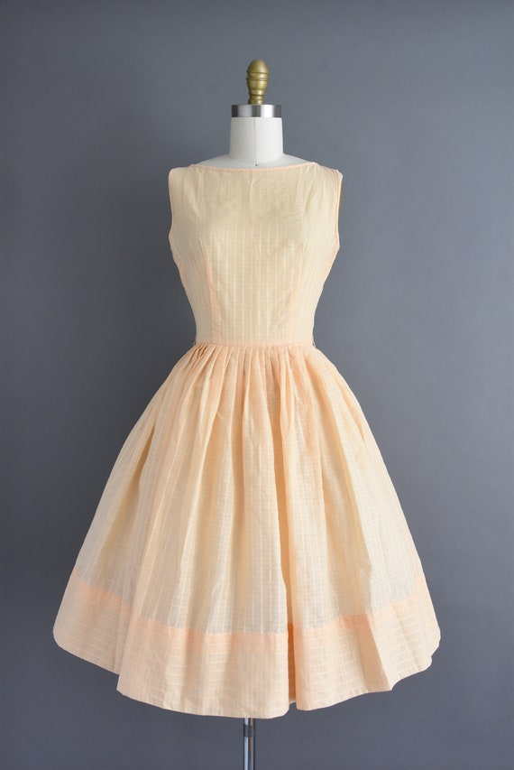 vintage 1950s | Jerry Gilden Peach Cotton Full Sk… - image 2
