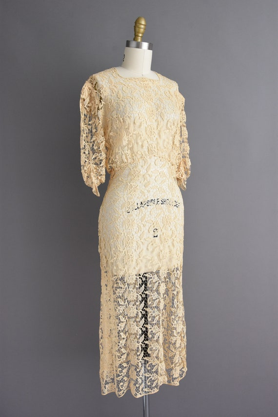 vintage 1930s | Rare Ivory Crochet Lace Antique B… - image 6