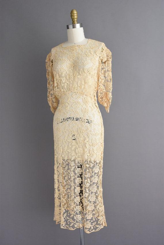 vintage 1930s | Rare Ivory Crochet Lace Antique B… - image 8