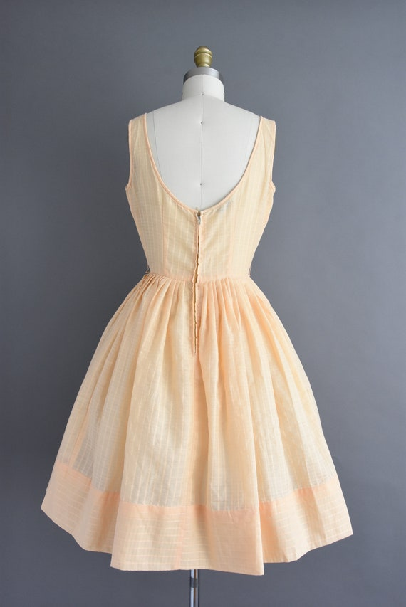 vintage 1950s | Jerry Gilden Peach Cotton Full Sk… - image 8