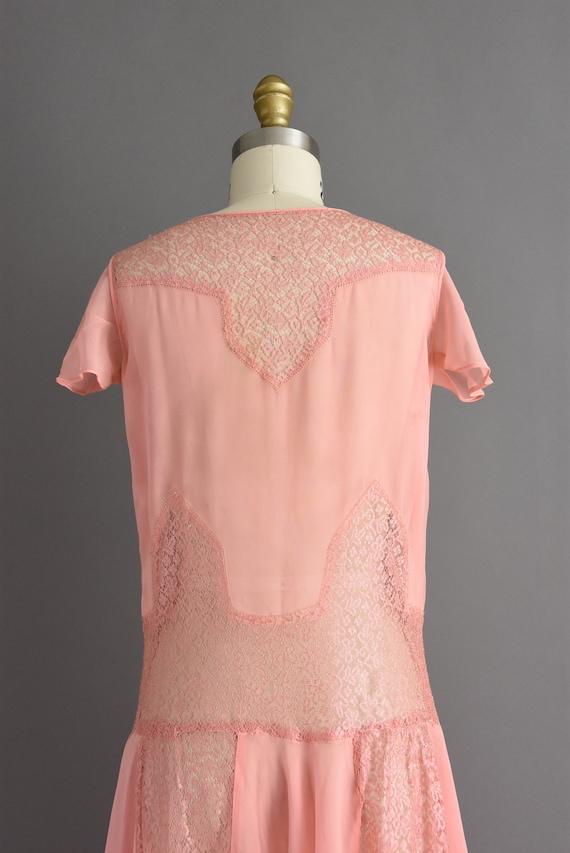 vintage 1920s | Beautiful pink silk chiffon antiq… - image 9
