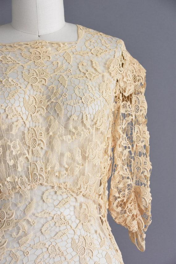 vintage 1930s | Rare Ivory Crochet Lace Antique B… - image 5