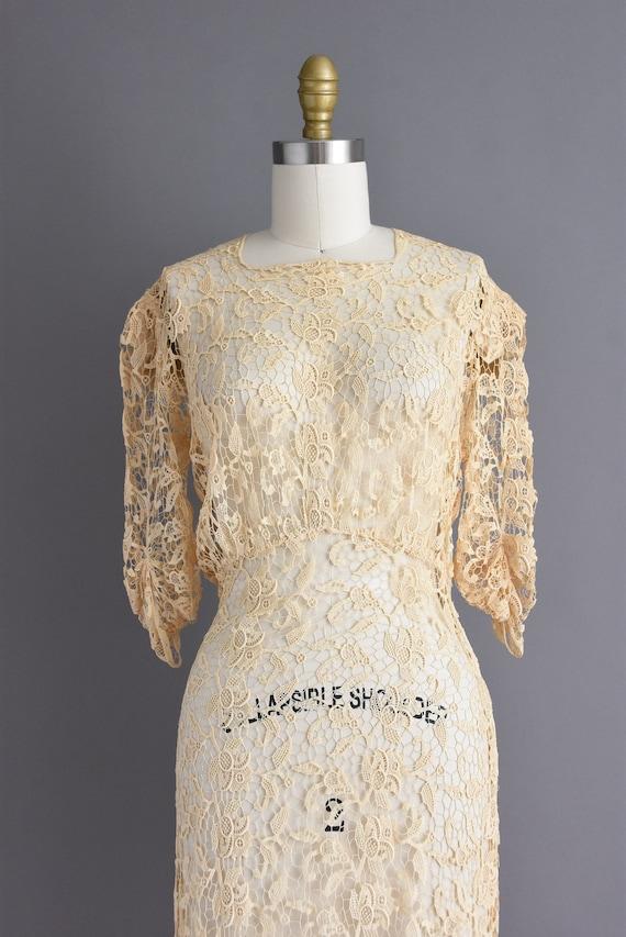 vintage 1930s | Rare Ivory Crochet Lace Antique B… - image 3