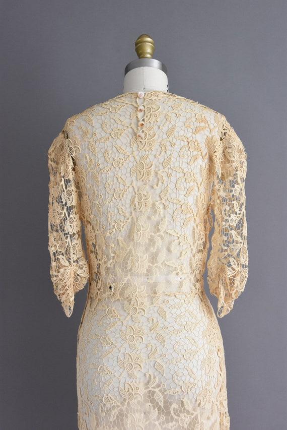 vintage 1930s | Rare Ivory Crochet Lace Antique B… - image 10