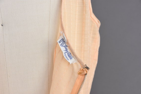 vintage 1950s | Jerry Gilden Peach Cotton Full Sk… - image 9