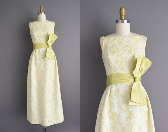 50s dress | Chartreuse Rappi iridescent shimmery b
