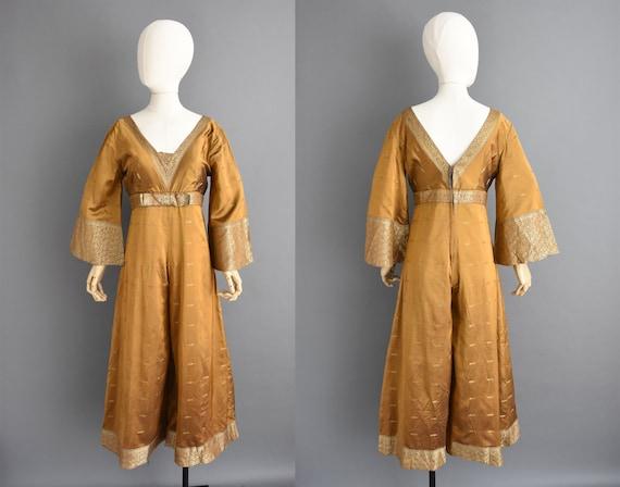 vintage 1960s jumpsuit - Size Medium - Sari Saree