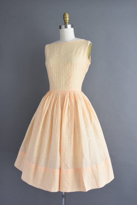 vintage 1950s | Jerry Gilden Peach Cotton Full Sk… - image 7