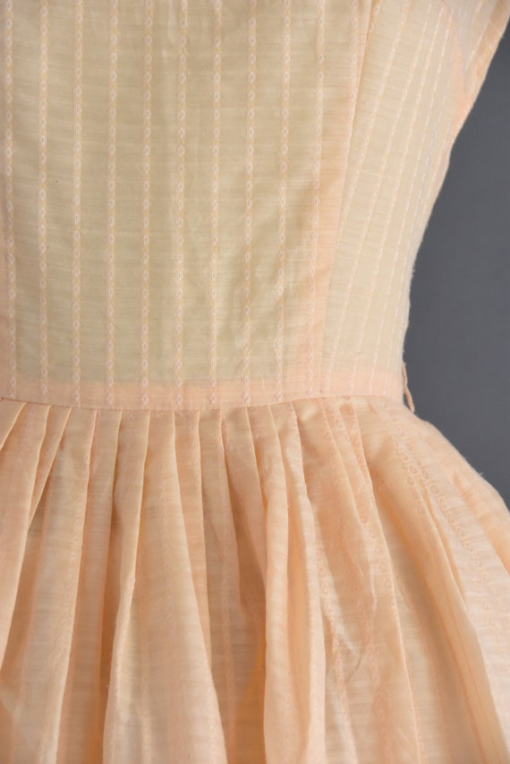 vintage 1950s | Jerry Gilden Peach Cotton Full Sk… - image 4