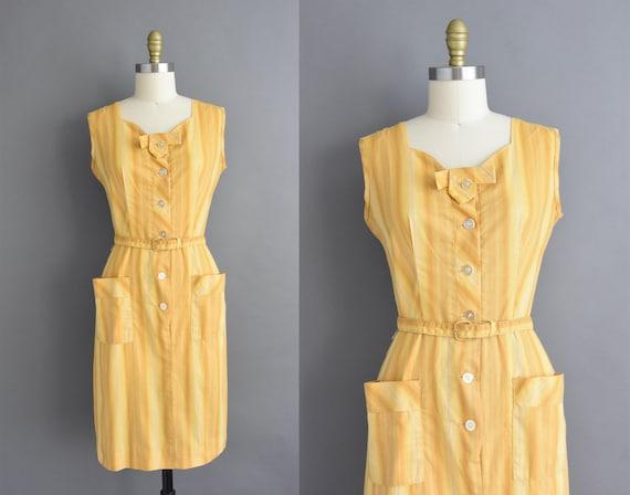 vintage 1950s | Mode O' Day Golden Stripe Print Co