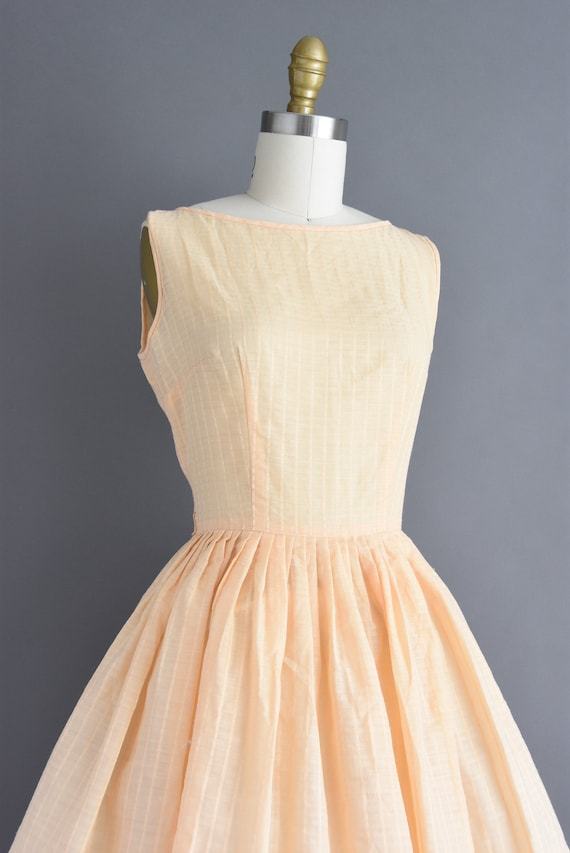 vintage 1950s | Jerry Gilden Peach Cotton Full Sk… - image 5