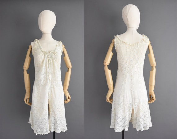 vintage 1910s lingerie | XS Small | Antique cotton
