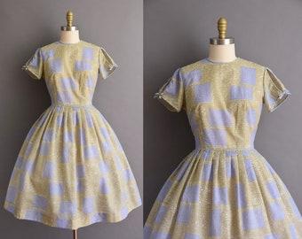 vintage 1950s Toni Todd lavender cotton full skirt dress Small Medium 50s cotton full skirt dress