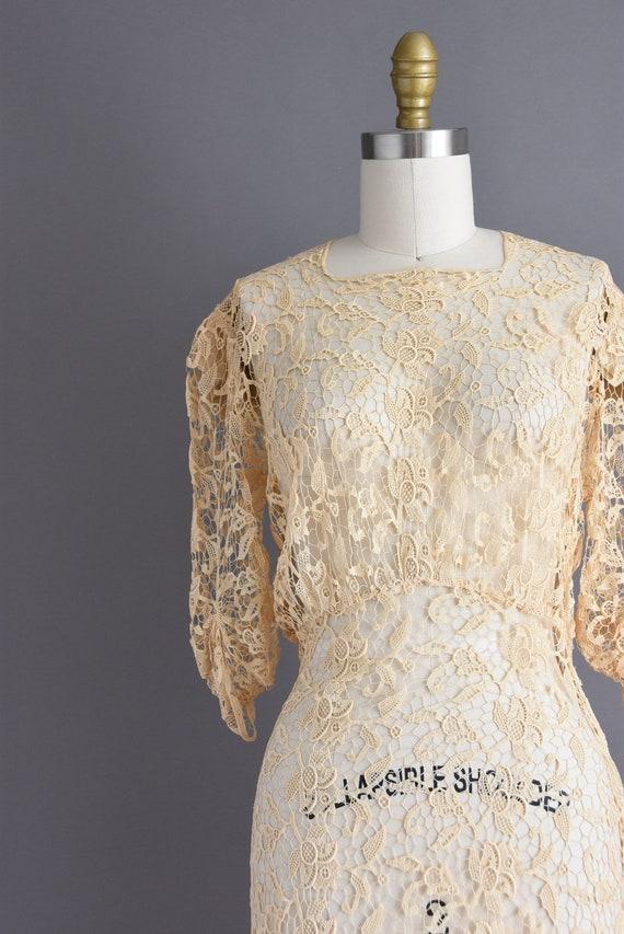 vintage 1930s | Rare Ivory Crochet Lace Antique B… - image 4