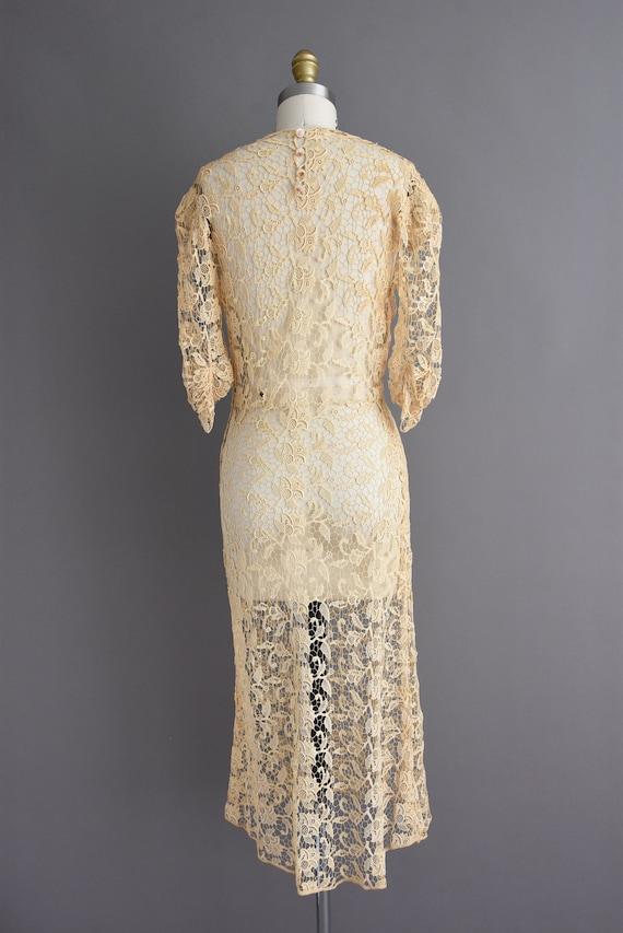 vintage 1930s | Rare Ivory Crochet Lace Antique B… - image 9