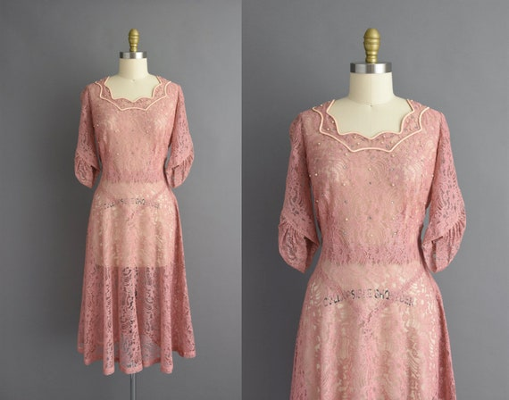 vintage 1950s | Rose Pink cocktail party bridesmai