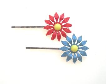 Free gift!  Flower Hair Pins, Hair pins, Flower Bobby Pins, Hair Accesories, , Hair Clip, Hairpin, Girl Bobby Pins, Choose 2
