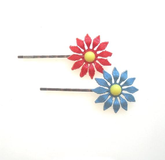 Cadeau gratuit!  Fleur épingles à cheveux, épingles à cheveux, épingles à cheveux fleur Accessoires cheveux, pince à cheveux, épingle à cheveux, épingles à cheveux fille, choisissez 2