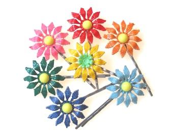 Vintae Flower Hair Pins, Flower Hair Pins, Hair pins, Flower Bobby Pins, Hair Accesories, , Hair Clip, Hairpin, Girl Bobby Pins, Choose 2