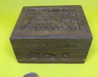 Small Carved Trunk