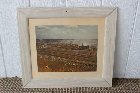Three Stand Coal Reducing Mill Industrial Aliquippa Works 1964 print industry framed Purdy art steel
