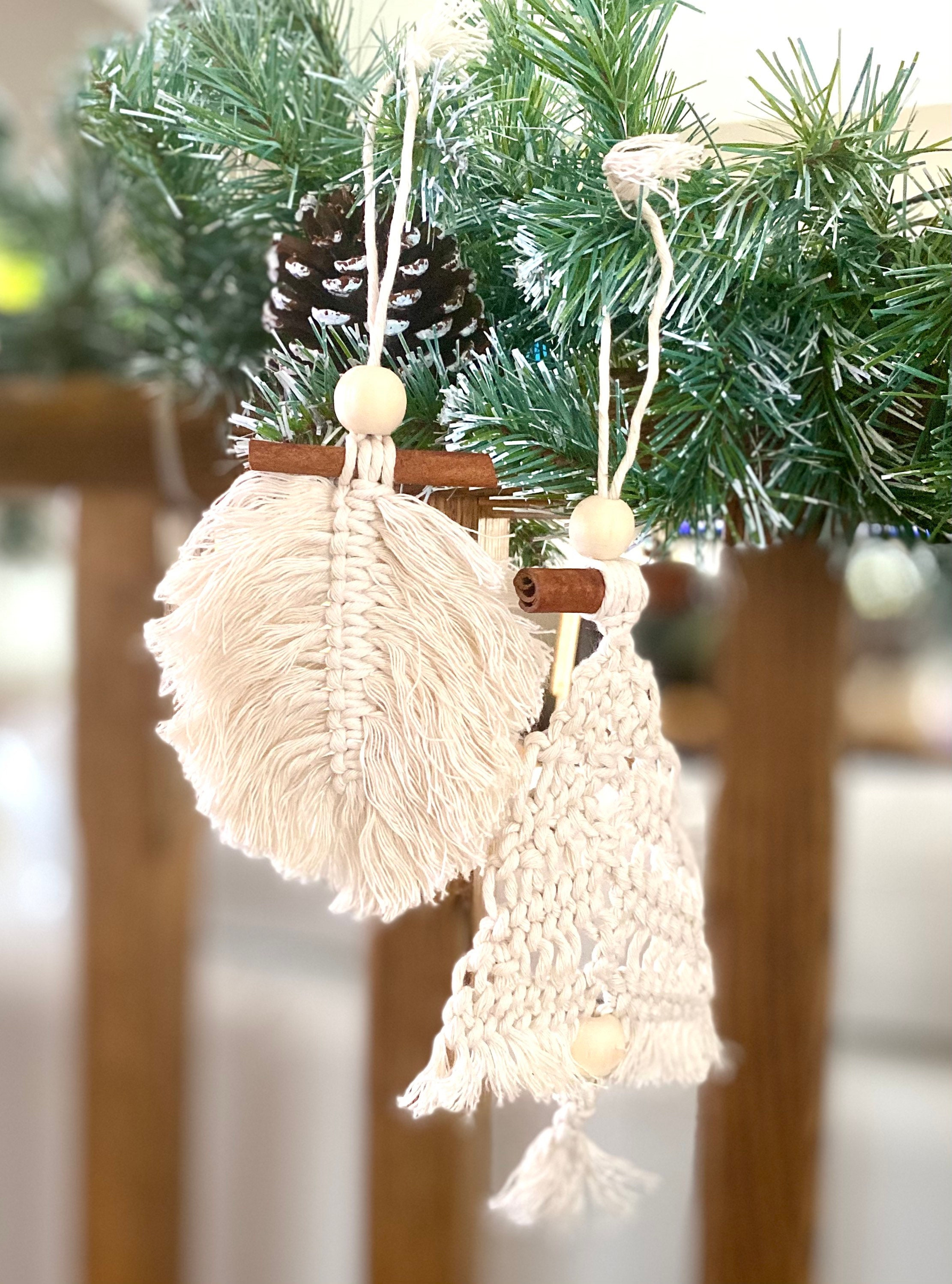 Boho Christmas Ornaments Macrame Christmas Decoration Christmas Tree Decorations Macrame Christmas Ornament Gift Ideas