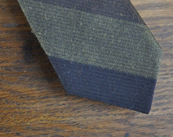 MCM mid century modern skinny tie in black brown and beige