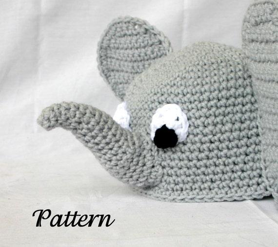Baby Toddler Elephant Hat Pdf Crochet Pattern 6 36 Months Etsy