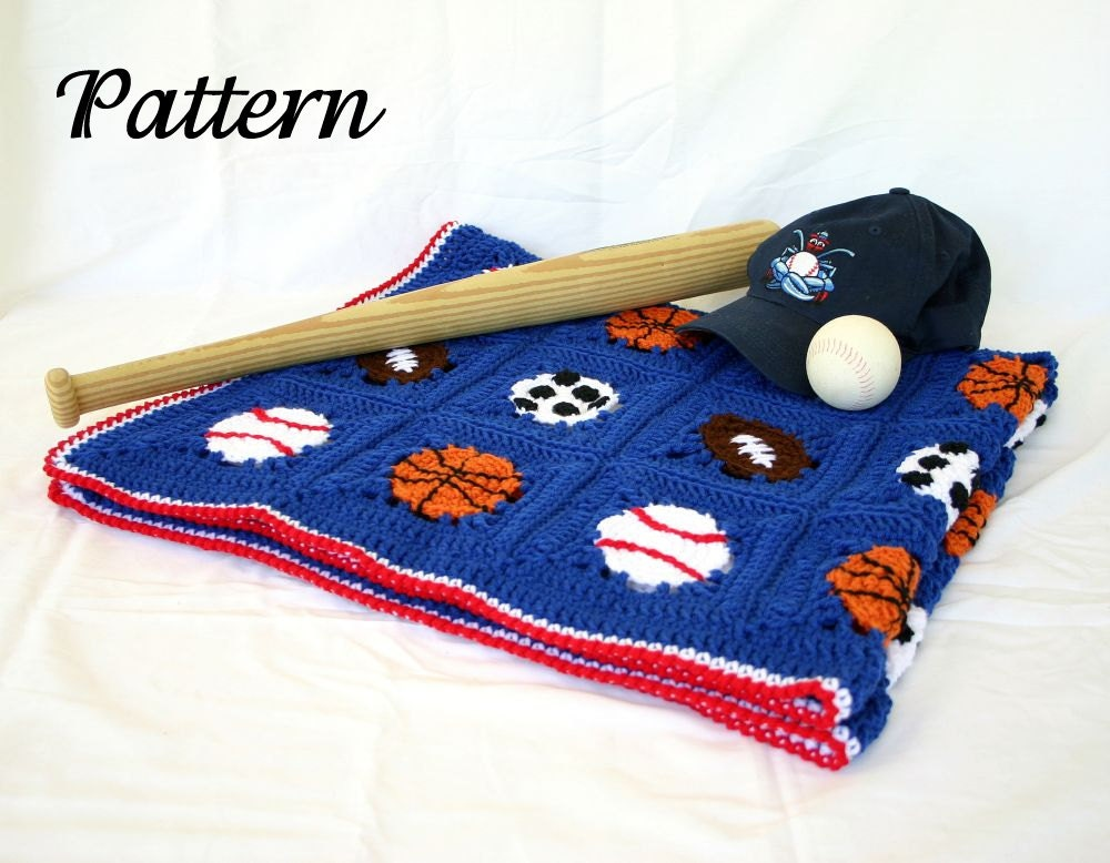 Sports Balls Afghan Pdf Crochet Pattern Basketball Football Etsy
