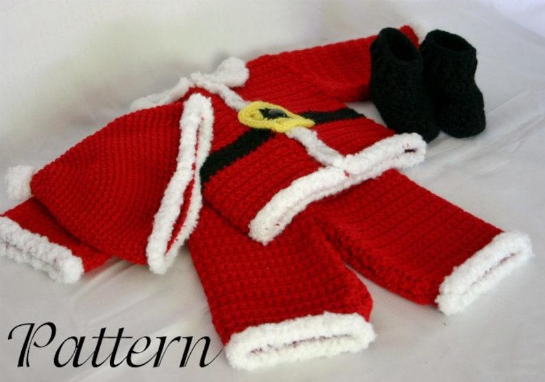 f7e5ce7d5 Infant Santa suit PDF crochet PATTERN 0-3 month size newborn