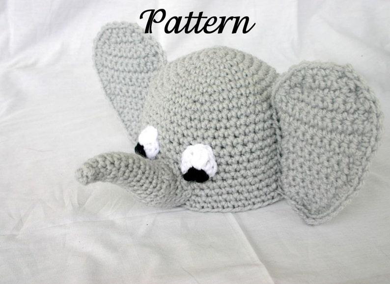 673bfe6d507 Baby elephant hat PDF Crochet PATTERN 0-6 months beanie infant