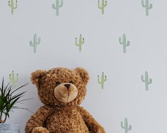 Cactus Wall Decals, Desert Wall Paper, Cactus Wall Decor, Watercolor Cactus Wall Paper