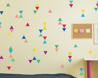 Triangle Wall Decals, Triangle Confetti, Nursery Art, Removable Stickers,  Triangle Decals,