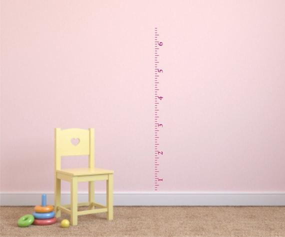 ruler growth chart vinyl wall decal nursery growth chart | etsy