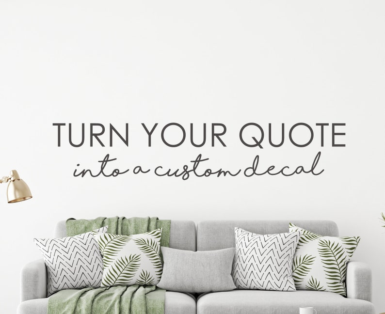 create a custom wall decal favorite quote wall decal | etsy