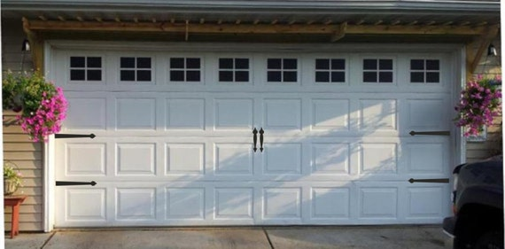 Bon Garage Door Hinges And Handles Vinyl Decals Garage Vinyl | Etsy