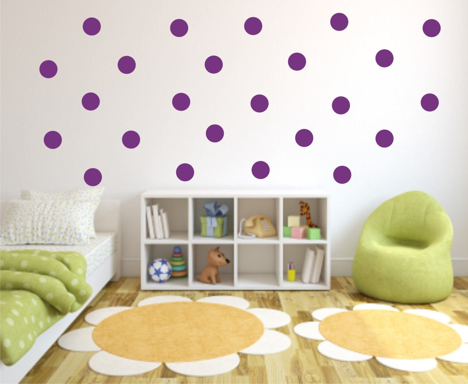 polka dot wall decals confetti wall stickers circle vinyl etsy. Black Bedroom Furniture Sets. Home Design Ideas