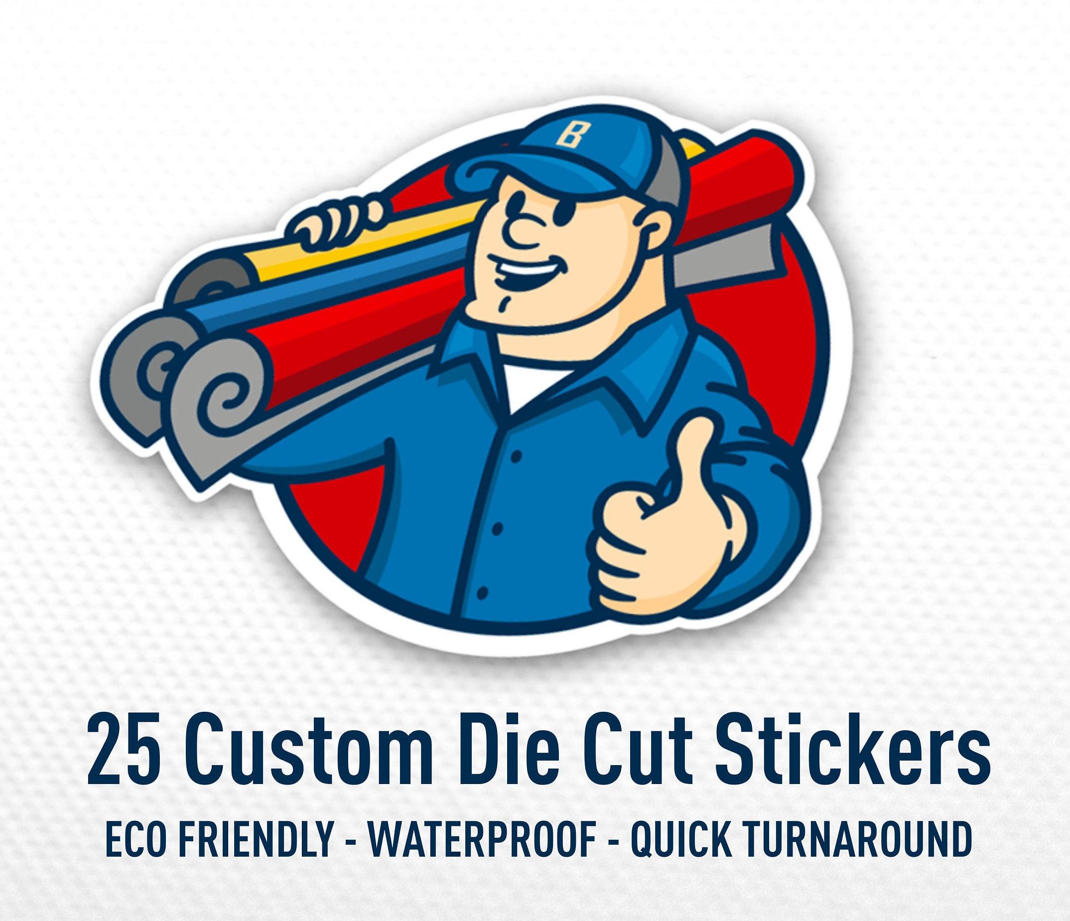 Custom shape bulk stickers waterproof stickers 25 vinyl stickers cut to shape custom made product labels