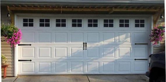 Garage Door Hinges And Handles Vinyl Decals Garage Vinyl Etsy