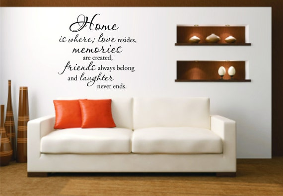 Home Is Where Love Resides Wall Decal Home Wall Quote