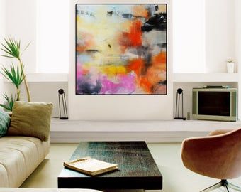 Pink Abstract Giclee print, Pink white Giclee Print, Abstract Painting, Large Abstract Painting, Pink Art Print, gold and pink wall art