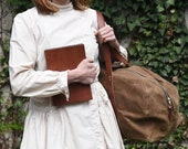 Brown Leather Journal, Adventure Journal, Handbound Book by Peg and Awl | Harper Journal