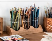 Wood Pencil Holder, Work From Home Desk Organizer by Peg and Awl | Beatrix Artist Caddy