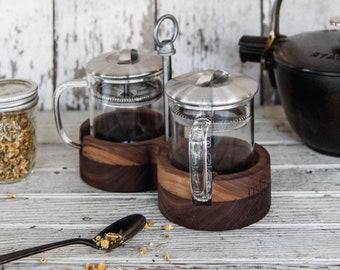 Wood Tea Caddy, Tea Set, For Loose Leaf Tea, Wood Caddy, Self Care by Peg and Awl | Rishi Tea Caddy