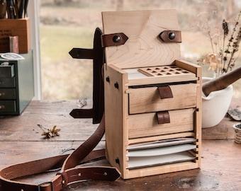 Scout Pochade Box for Watercolor + Gouache Artists, En Plein Air, Artist Box, Portable Studio by Peg and Awl |